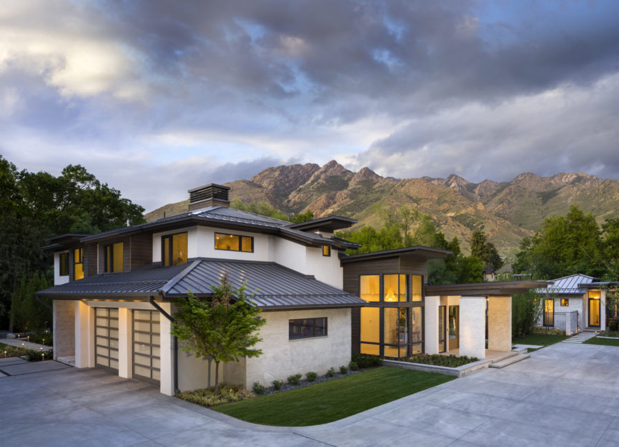 modern home with a view - custom home design by Think Architecture