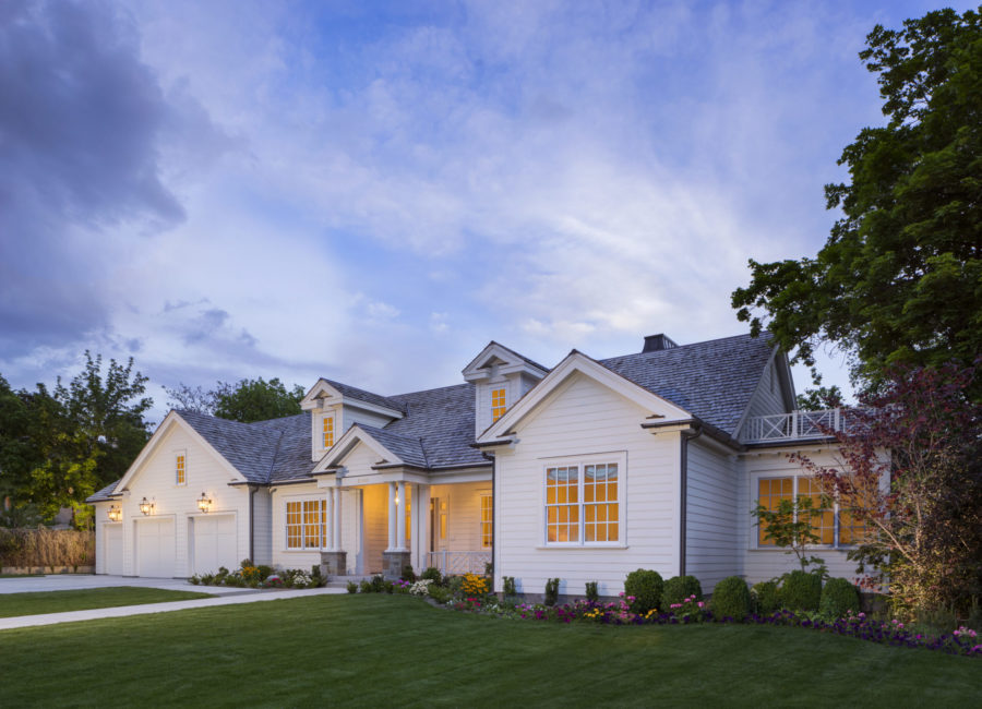 custom home with 3-car garage - Residential architecture by Think