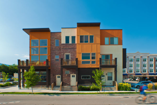 Modern transitional-style townhomes in Utah